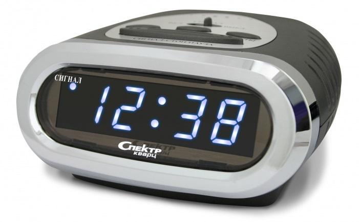 Электронные настольные часы с термометром и подсветкой 7 цветов.